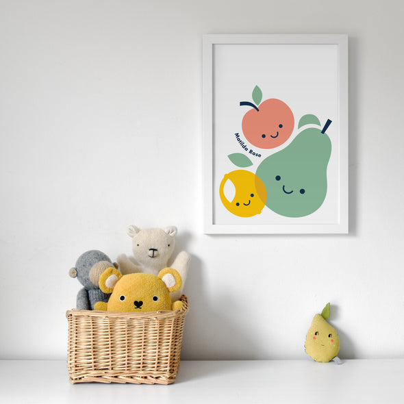 Personalised Fruit Friends Print - Multiple Sizes