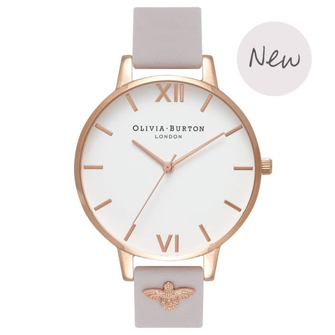 Olivia Burton Watch with 3D Bee Embellished Strap