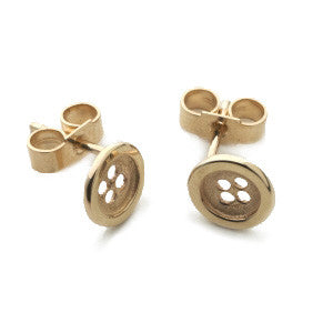 9ct Gold Cute as a Button Earrings