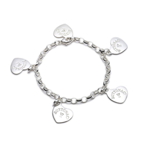 Button & Co. Sweetheart Charm Bracelet