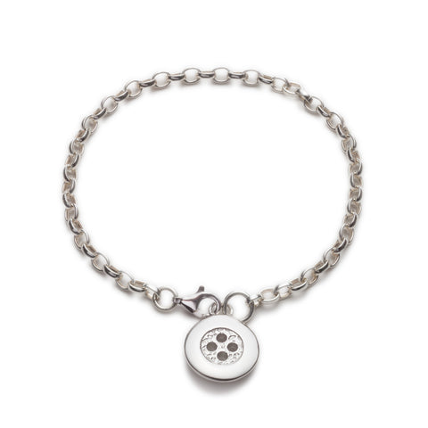Cute as a button charm bracelet