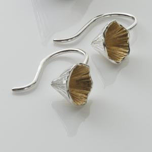 Shell Cone Short Drop Earrings