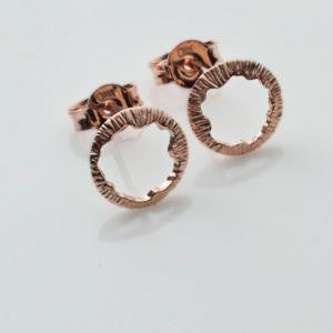 Shell Rose Gold Stud Earrings