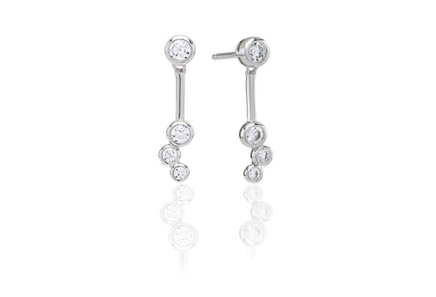 Earrings Sardinien Tre with white zirconia