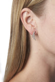Earrings Fucino Tre - 18k rose gold plated with white zirconia