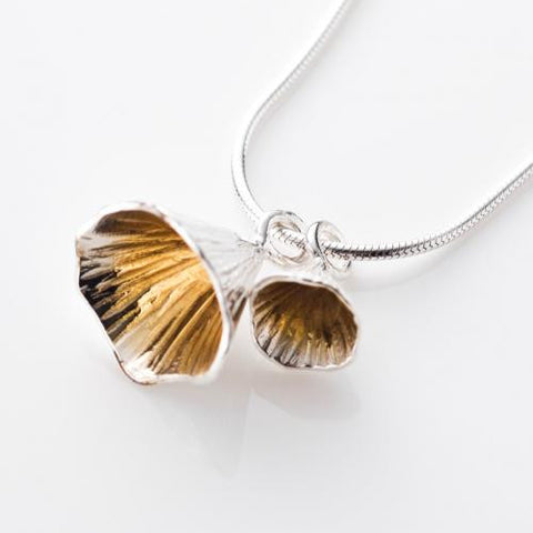Shell Cone Double Pendant Necklace