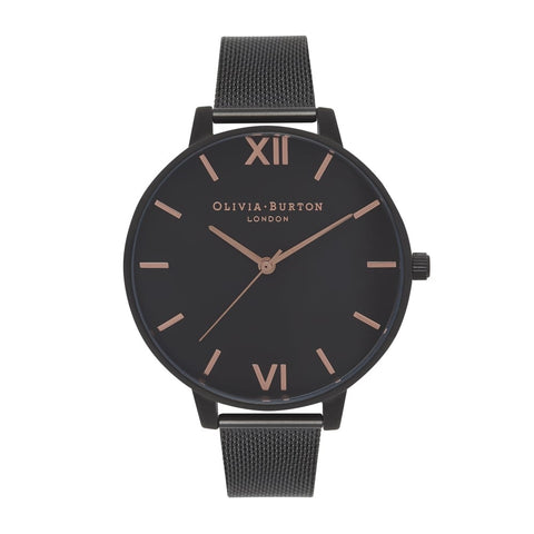 After Dark Black Mesh IP & Rose Gold Dial
