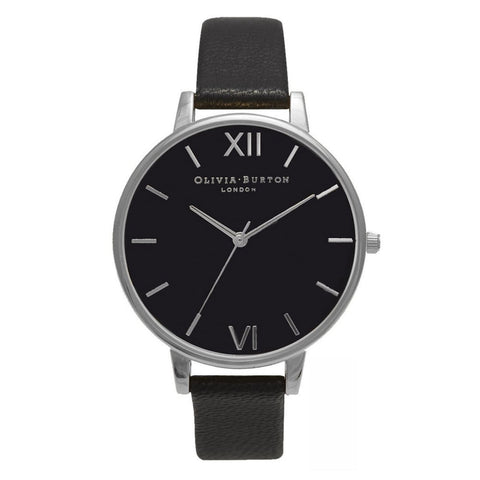 Big Dial Black Dial and Silver Olivia Burton watch