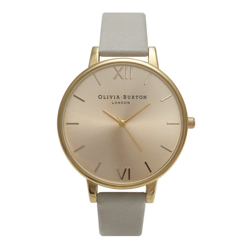Big Dial Grey and Gold Olivia Burton Watch