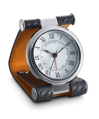 CAVESSON CLOCK Black Carbon Fibre with Orange