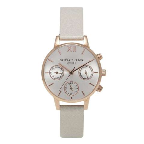 Midi Chrono Detail Mink and Rose Gold watch
