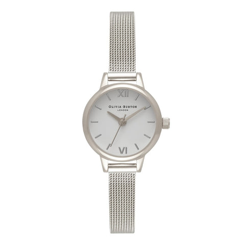 Mini Dial Silver Mesh Olivia Burton Watch