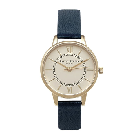 Olivia Burton Wonderland Navy & Gold Watch