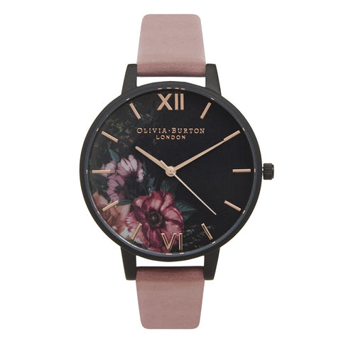 After Dark Floral Black, Rose & Rose Gold