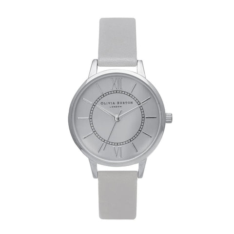 Wonderland Grey & Silver Olivia Burton Watch