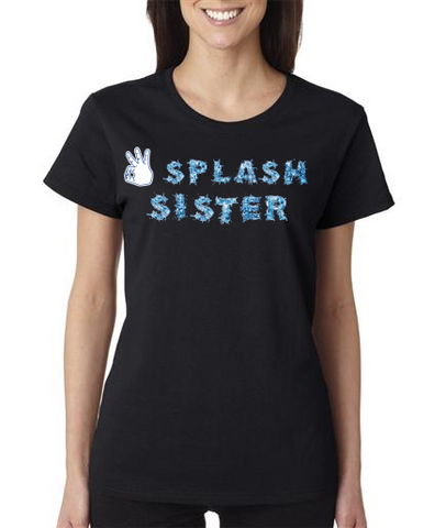 """SPLASH SISTER"" Ladies Heavy Cotton Short Sleeve T-Shirt"