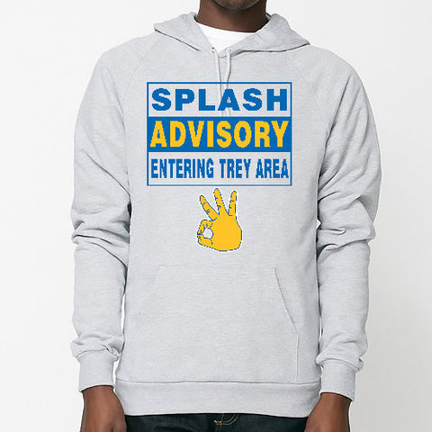 """SPLASH ADVISORY"" American Apparel Unisex California Fleece Pullover Hoodie"