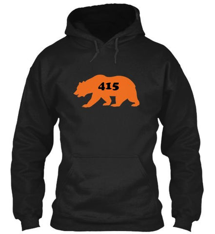 """CALI BEAR WITH YOUR AREA CODE"" American Apparel Unisex California Fleece Pullover Hoodie"