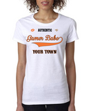 """GAMER BABE from {INSERT YOUR TOWN HERE}"" Ladies Heavy Cotton Short Sleeve T-Shirt"