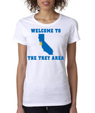 """WELCOME TO THE TREY AREA"" Ladies Heavy Cotton Short Sleeve T-Shirt"