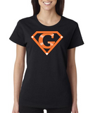 """SuperFan"" Ladies Heavy Cotton Short Sleeve T-Shirt (Double-Sided Print)"
