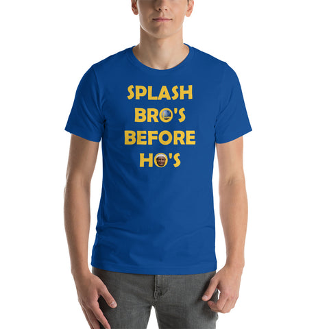 """SPLASH BRO'S BEFORE HO'S"" Short-Sleeve Unisex T-Shirt"