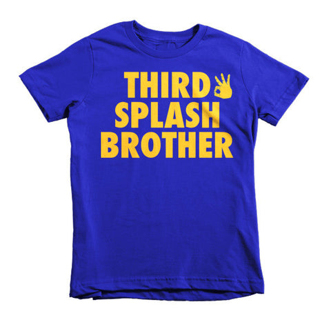 """Third Splash Brother"" Short Sleeve Kids' T-Shirt"