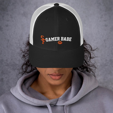 """SF GAMER BABE - KISS VERSION #2"" Trucker Cap"