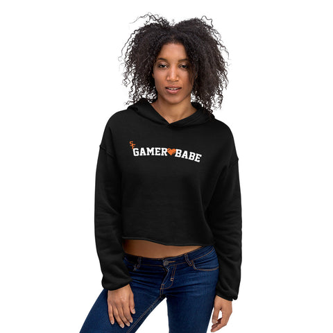 """SF Gamer Babe - Heart Version"" Crop Hoodie"