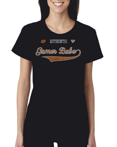 "Blinged Out ""Authentic Gamer Babe"" Bella+Canvas T-Shirt"
