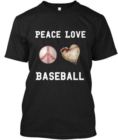 """PEACE LOVE BASEBALL"" Mens' Ultra Cotton™ T-Shirt"