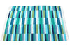 Bricks Flat-Weave Rug, Sea