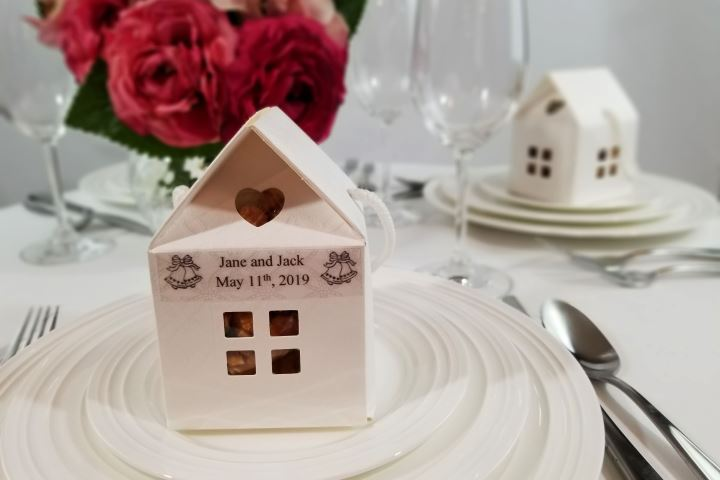 House Favor Box with Label