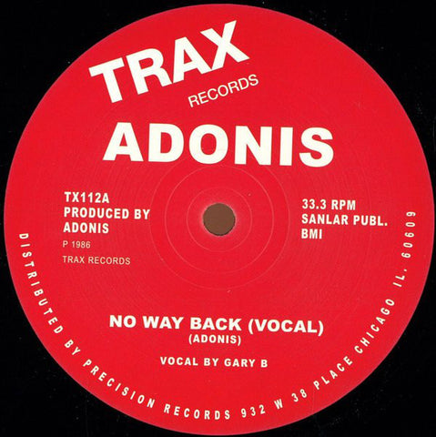 ADONIS  :  NO WAY BACK  [ Get Down / Trax ]