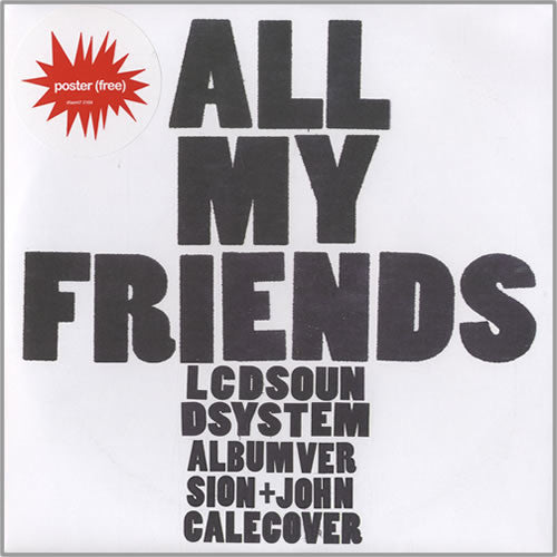 Lcd Soundsystem All My Friends 7 Inch Dfa