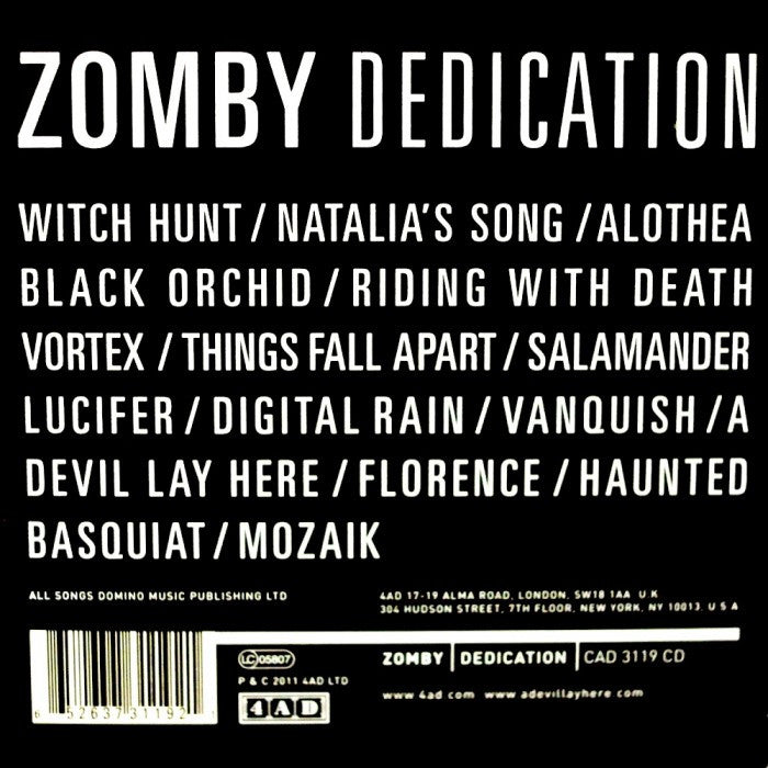 zomby dedication 4ad