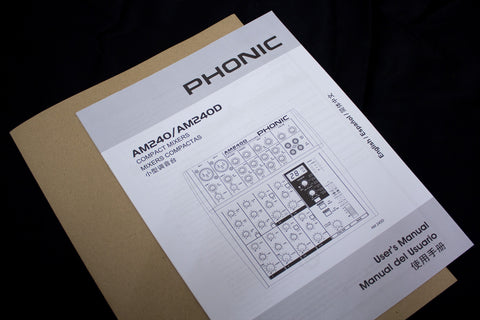 PHONIC AM240 / AM240D [ Operator's Manual ]