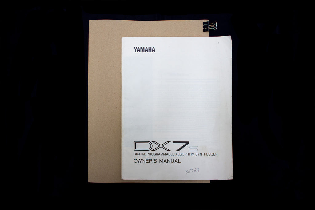 YAMAHA DX7s [ Operator's Manual ]