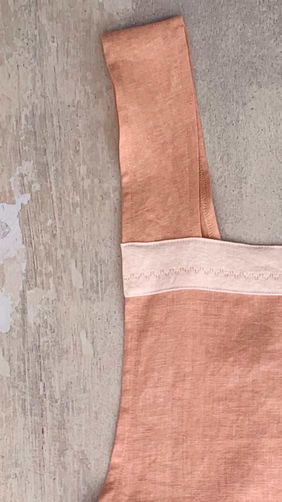 Peach Crossback Apron
