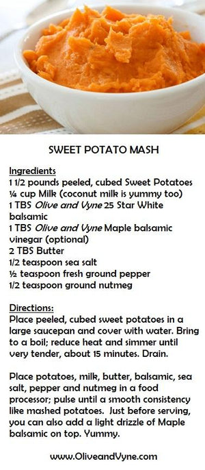 Sweet Potato recipe from Olive and Vyne, Star Idaho