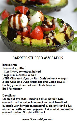 Recipe for stuffed avacados - Easy travel from Eagle, Star, Middleton, Caldwell, Emmett, Kuna, Nampa and Boise