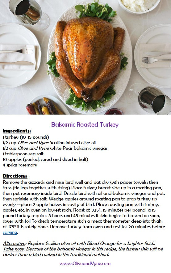 Olive and Vyne Pear balsamic turkey cutlet recipe.