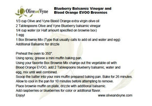 Olive and Vyne Blood Orange olive oil brownie recipe