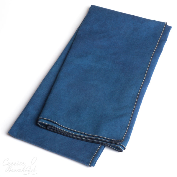 Hand dyed indigo scarf - Currier & Beamhouse