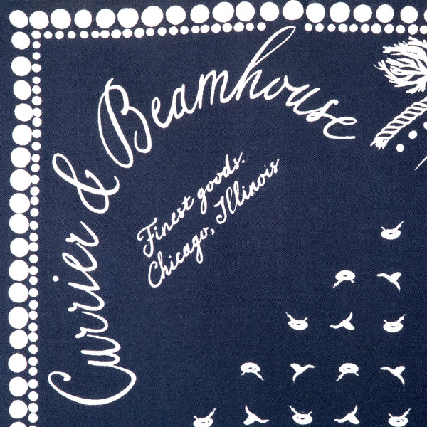 Screen printed cowboy bandana, limited edition tomato red cotton - Currier & Beamhouse