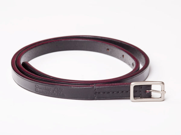 "½"" buckled belt, black English bridle - Currier & Beamhouse"