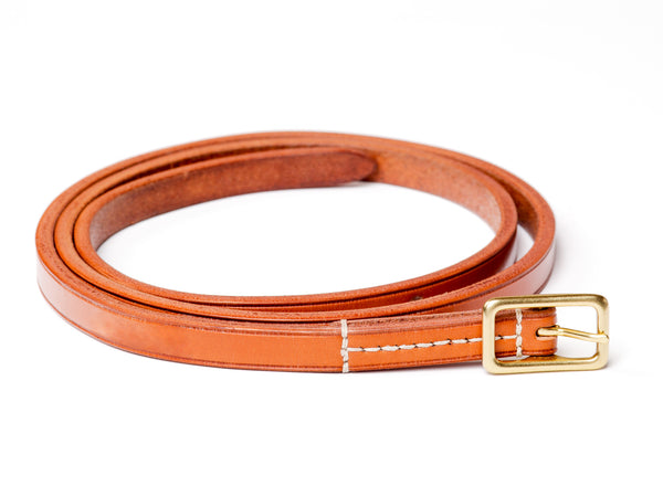 "½"" buckled belt in tan English bridle - Currier & Beamhouse"