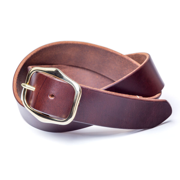 "1 ½"" standard buckled belt, limited edition brown Horween Chromexcel - Currier & Beamhouse"