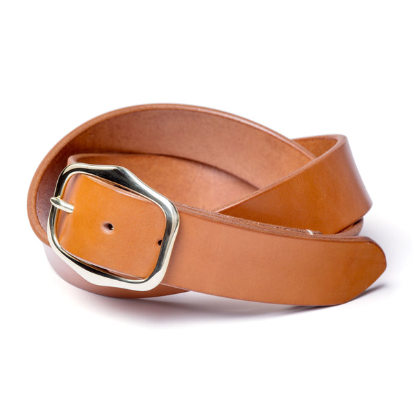 "1 ½"" standard buckled belt, tan English bridle - Currier & Beamhouse"