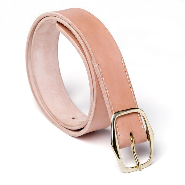 "1 ½"" standard buckled belt, natural vegetable tanned leather - Currier & Beamhouse"